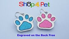 Dog Cat Tag, Reflective Pet Id Tags 4 Dogs or Cats, 10 Colours to Choose From