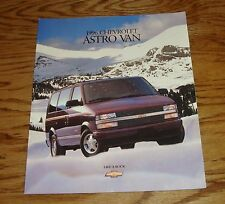 Original 1996 Chevrolet Astro Van Sales Brochure 96 Chevy