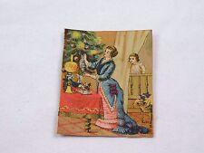 Victorian Scrap Card Christmas Beautiful Lady Child Tree Ornaments F45