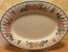 "Staffordshire Cherry Orchard Large Oval 15 1/2"" 40 cm Platter / Serving Plate"