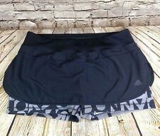 adidas Skirt Size XL Skort Black Climalite Skirt with shorts under 2 in 1 shorts