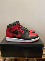NEW Nike Air Jordan 1 Mid Banned GS Red Black UK 5 *SAME DAY DISPATCH*