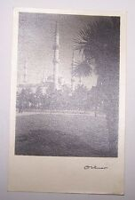 Turkey Constantinople Othmar Istanbul Blue Mosque  RPPC Photograph Postcard