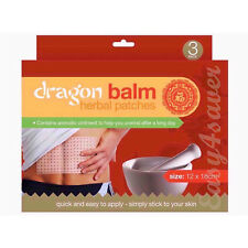 Balsamo DI DRAGO rimedio a base di erbe naturali 3 patch di calore - 855106