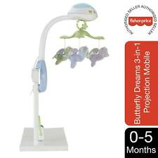 Fisher-Price Butterfly Dreams 3in1 Projection Mobile, Light Projector Cot Mobile