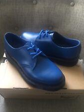 Rare Dr Martens Bright Blue Mono 1461 6US 4UK 37EU