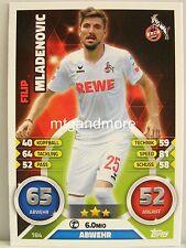 Match Attax 2016/17 Bundesliga - #184 Filip Mladenovic - 1. FC Köln