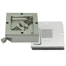 Bga Reballing Kit 90mm Reball Station Fixture Jig With 10pcs Universal Stencil