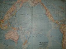 Vintage 1962 PACIFIC OCEAN Map ~ Authentic Original 50+ Year Old Map