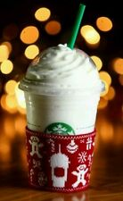 * NEW * STARBUCKS UGLY SWEATER COZY COOZY COOZIE FRAPPUCCINO PROMOTION RARE 2015