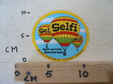 STICKER,DECAL SELFI RESTAURANTS SELF-SERVICE  HOT AIR BALLOON,BALLON À AIR CHAUD