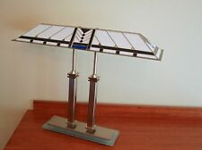 Desk table bankers lamp George Kovacs, double stem, vintage mission style