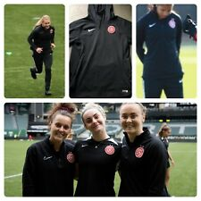 NIKE PORTLAND THORNS NWSL PLAYER ISSUED TRAINING PULLOVER HOODED JACKET MEDIUM