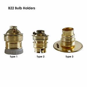 Lamp Holder | BC | B22 | Bayonet Cap Lamp Holder Unswitched Plain 10mm Conduit