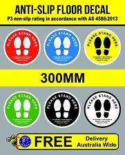 300mm ANTI-SLIP Social distancing floor vinyl sticker, floor sticker, 1.5m decal