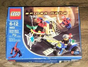 Brand New LEGO Set 4853 -SPIDERMAN - Spider-Man's Street Chase 2004 Damaged Box