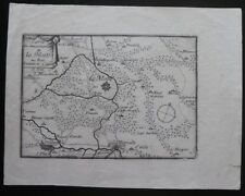 Mercator 1628 France Small Map La Motte au Bois...