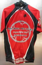 POLYESTER CLUB RED  CYCLING JERSEY BAY AREA BICYCLE CORPUS CHRISTI TEXAS
