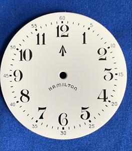 RARE HAMILTON 16 Sz Pocket Watch DIAL, 3992-B English Ordinance, Enamel, 3 Feet