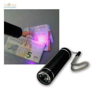 Mobiler Geldscheinprüfer / LED Taschenlampe mit Ultraviolett Schwarzlicht Lampe