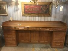Vintage Oak Architect/Railroad Desk By The Derby Desk Co. Of Boston Mass
