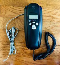 General Electric 29263GE2-A Vintage Corded Telephone Black Trimline Caller I.D.