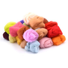 15 colors Wool Fibre Roving For Needle Felting Hand Spinning DIY materialTS