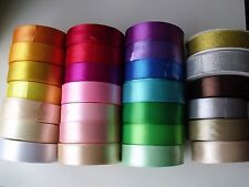 3 Metres! Quality Reels Single Sided  Satin Ribbon Cut Lengths 25mm