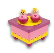 boite à musique aimanté modèle princesse, jeu et jouet en bois, éveil musical