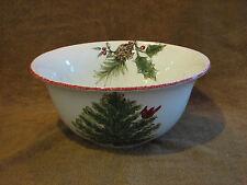 "MAXCERA CARDINAL TREE 9.5"" Round Vegetable Serving Bowl w Pine Cone - Christmas"
