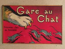 Imagerie du jeu Gare au chat marque Saussine - Original - Souris - Vers 1900