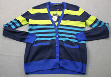 RALPH LAUREN POLO GOLF Womens Striped Merino Wool Cardigan Sweater NWT  S  $198