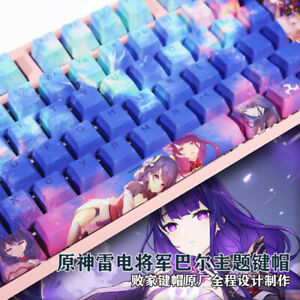 Games Genshin Impact Baal 108 Keys PBT Keycap Set for Mechanical Keyboard Stock