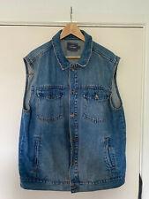 Topman Men's Size XL Blue Sleeveless Denim Vest Waistcoat Jacket Gilet