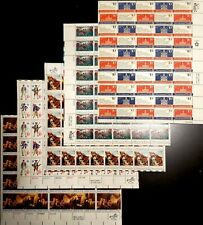 Bicentennial Stamp Collecting Bundle: 5 Us Full Sheets, $145 Retail Value*, Mnh
