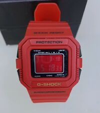 Casio G-Shock Men's Watch G-5500C Red Tough Solar Shock Resist 3062 Rare Limited