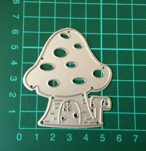 Toadstool Mushroom House Metal DieCutter Fairy Cutting Die