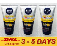 3 x Nivea Men Anti-Aging 10in1 3D Wrinkle Repair Q10 Facial foam 100g Express !