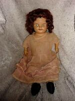 Vtg American Doll Co Composition Stuffed Body Poll Parrot Shoe Advertis. (A9)