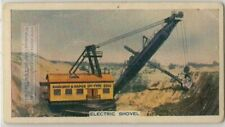 Electric Shovel Heavy Construction Earth Moving Equipment 80+ Y/O Trade Ad Card