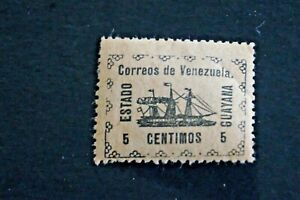 1903 Venezuela - Guayana S# 1, Local Stamp for Guayana State, MPH OG (crease)