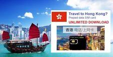 Travel to Hong Kong Macau-10 days Prepaid data SIM card UNLIMITED DOWNLOAD