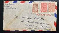 1930s Dhahran Saudi Arabia Airmail Arabic Oil Company Cover to Oakland Ca USA