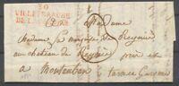 1822 Lettre Marque 30 VILLEFRANCHE DE LAURAGEAIS Rge HAUTE-GARONNE(30) X2929