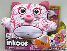 BLINGOO INKOOS DELUXE CAT - DRAW DESIGN DECORATE THEN WASH AND RE-DO! BRAND NEW!