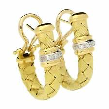18ct Yellow Gold Diamond Earrings