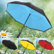 C-Handle Reverse Umbrella Windproof Double Layer Upside Down Folding Reversibl