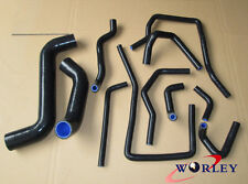 Subaru Impreza WRX/STi GDA/GDB EJ207 02-07 silicone radiator&heater hose Black