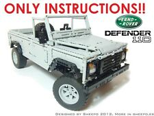 Sheepo's Lego Technic Custom Land-Rover Defender 110, ONLY INSTRUCTIONS!!