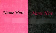 Personalised Honeymoon Anniversary Wedding Beach Towel Gift Set- Black & Pink